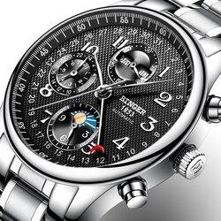 Switzerland BINGER watches men luxury brand Multiple functions Moon Phase sapphire Calendar Mechanical Wristwatches B-603-82