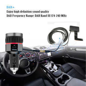 Image 5 - Car Digital DAB Receiver Cigarette Lighter Interface Car DAB Receiver OLED Display FM Launcher Car Charger Digital Radio