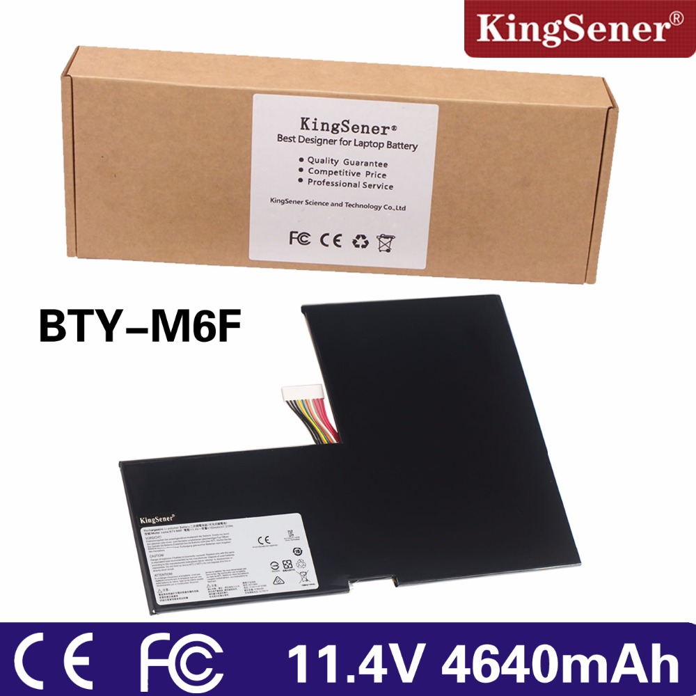 KingSener New BTY-M6F laptop Battery For MSI GS60 MS-16H2 2PL 6QE 2QE 2PE 2QC 2QD 6QC 6QC-257XCN Series 11.4V 4640mAh 2016 new products cheap china feie brand invisible digital hearing aid audiofone amplificador de surdez s 10a audifono with a10