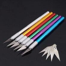 6 лезвий, нож для вырезания, дополнительный инструмент для резервного копирования, резец, ремесло, кожа, вырезание, скульптура, бритва, острый, кожевенное ремесло, случайный цвет