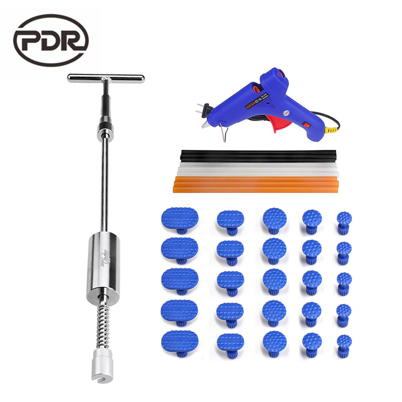 PDR Tools Automobile Tools Car Dent Repair Tool Car Body Repair Kit Puller Slide Hammer 220 V Glue Gun Adhesive Glue Rod 147 pcs portable professional watch repair tool kit set solid hammer spring bar remover watchmaker tools watch adjustment