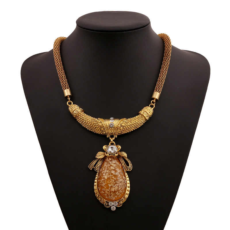 Brand Pendant Necklace For Women 2019 Maxi Statement Bohemian Boho Big Large Necklace Female Ethnic Gold Color Fashion Jewelry