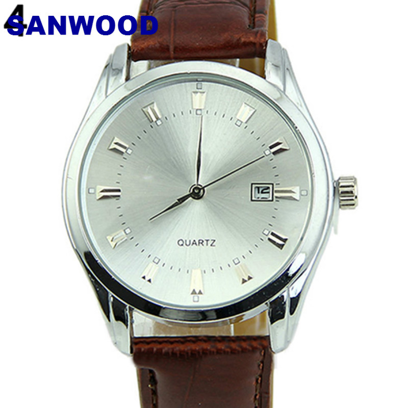 Men Casual Faux Leather Band Date Calendar Dial Analog Quartz Wrist Watch mike 326 men s business casual analog quartz wrist watch w calendar golden silver
