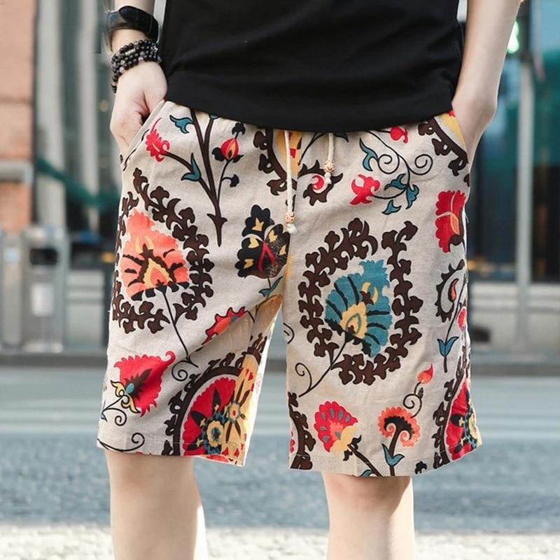 Pantalones cortos de natación para hombres Pantalón corto de lino de algodón puro Pantalones cortos de natación para hombres Pantalones cortos de playa SPA Traje de baño Pantalones de playa Pantalones cortos de surf Traje de baño