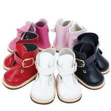 Fashion Cute Boots Flat Heel 5 Colour Doll Shoes for America