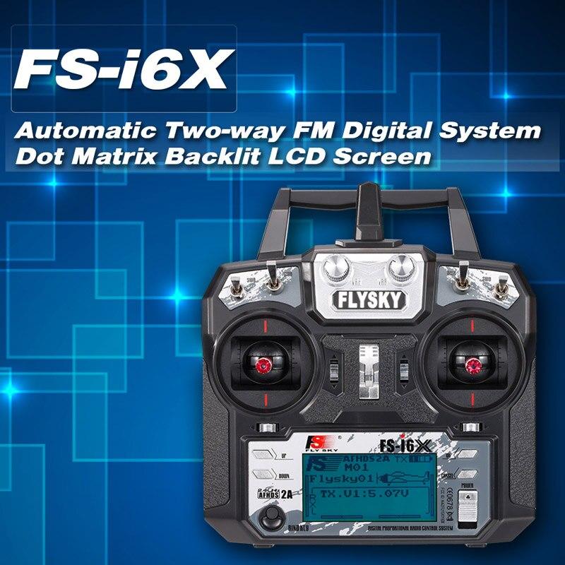Flysky FS-i6X 2.4 GHz 6CH AFHDS 2A RC transmetteur avec récepteur de FS-iA6B FS I6X RC Drone avion hélicoptère télécommande