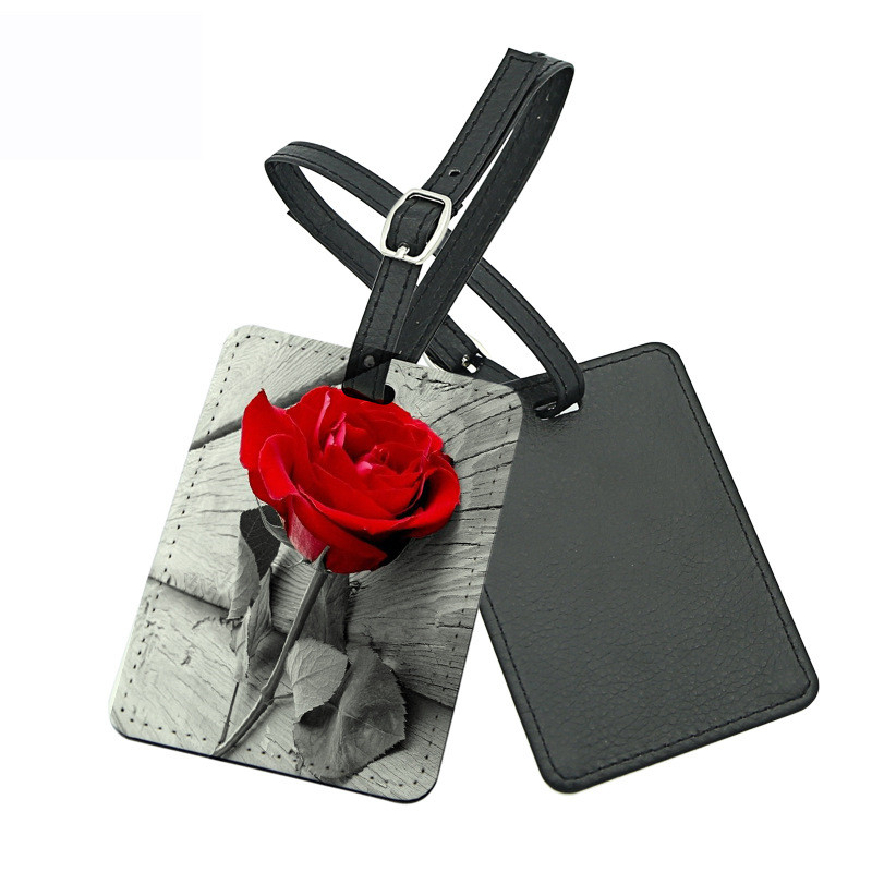 Sublimation Blank Leather Luggage Tag Heart Transfer Printing Custom Luggage Tags Consumables 11pieces/lot