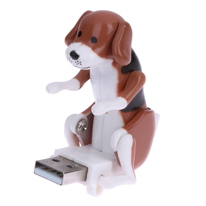 60*30*60mm White/Coffee Mini Funny Cute USB Humping Spot Dog Toy USB Gadgets