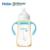 Haier brillante 330 ml pes anti-cólica aprender a mamadeira com alça de palha copo crianças garrafa de água potável
