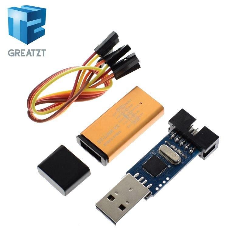 US $1 74 12% OFF|1Set ST LINK Stlink ST Link V2 Mini STM8 STM32 Simulator  Download Programmer Programming With Cover DuPont Cable ST Link V2-in