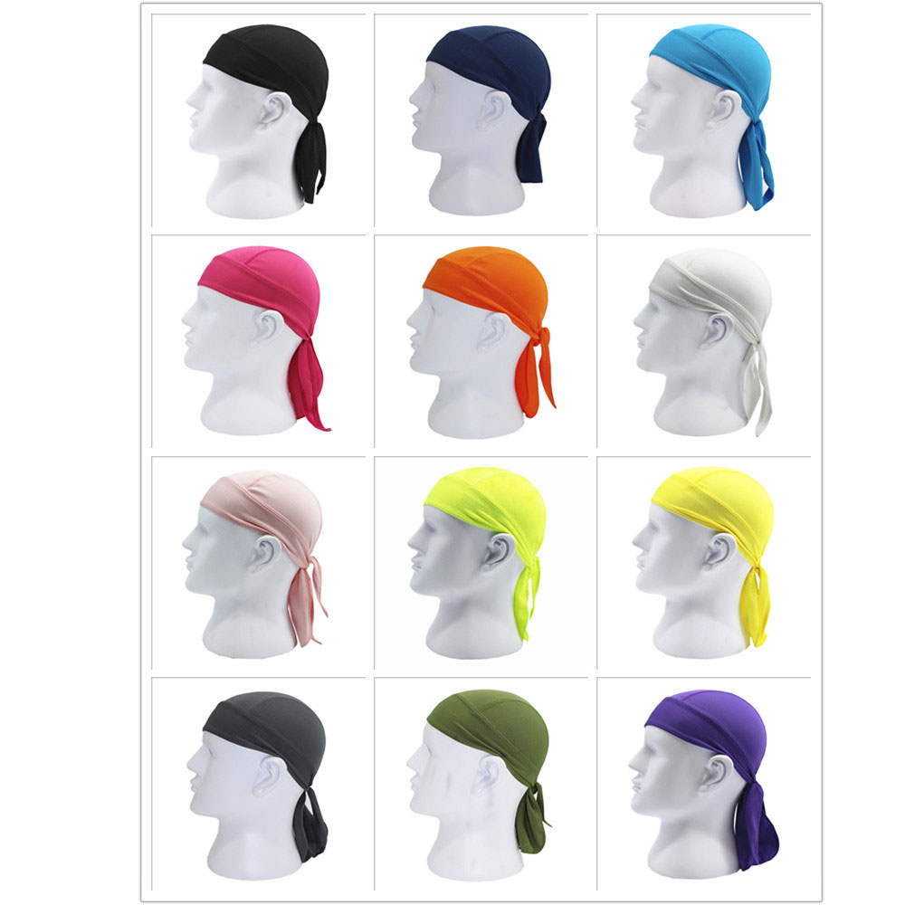 Купить с кэшбэком Men Women Cycling Bike headband Cap Bicycle helmet bandana Cycling Equipment Hat pirate gorra ciclismo Pure Color cycling cap