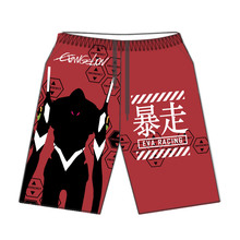 Luogen Anime NEON GENESIS EVANGELION EVA Racing Cosplay Hawaii Beach 3D Shorts Casual