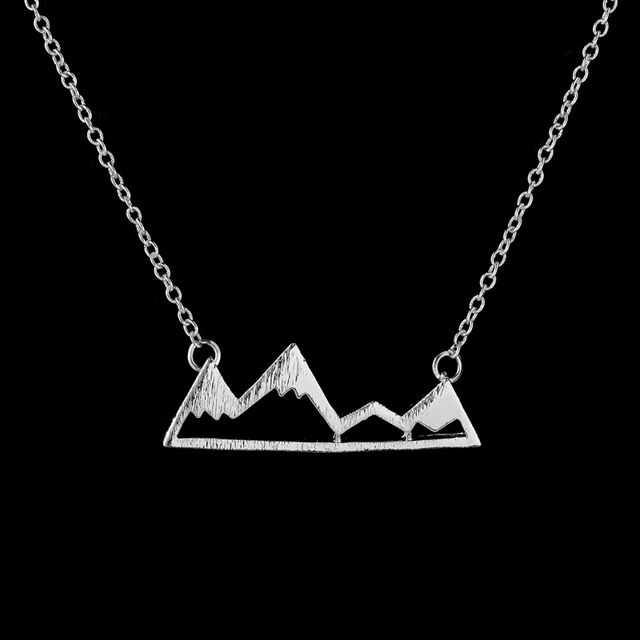 Snowy Mountain Statement Pendant Necklace