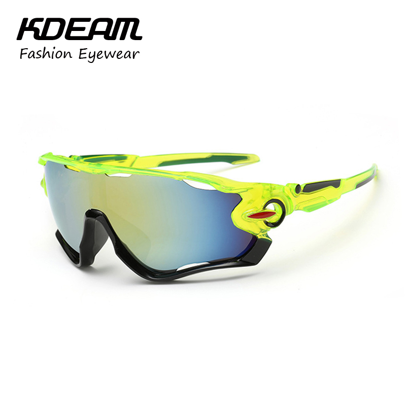 PCS lot Wholesale Sport Sunglasses Men Goggle Reflective Coating HD Lens Sun