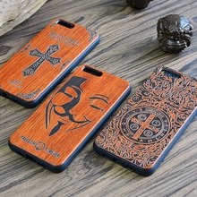 Bamboo Carving Wood Cases For Xiaomi Mi6 Mi 6