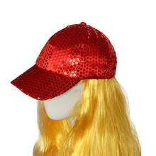 0fd9fc03a4 Huang Neeky 2018 New Fashion MSequin Baseball Cap Cloth Low Profile hat  protect eyes comfortable non