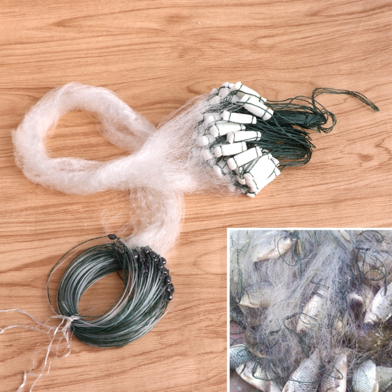 Rede de Pesca de Nylon Net 100x100 Verde Enfrentar Acessórios