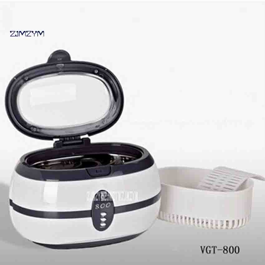 все цены на ZJMZYM New Arrival VGT-800 Ultrasonic Cleaning Machine 35W 600ML Home Cleaner Machine For Cleaning Eyeglasses Jewelry Watches онлайн