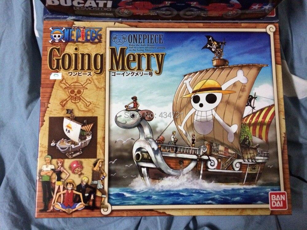 ФОТО Hot Bandai Grand Ship DIY Collection Anime Comic One Piece Going Merry Luffy's Ship Model Figure Toys New Box