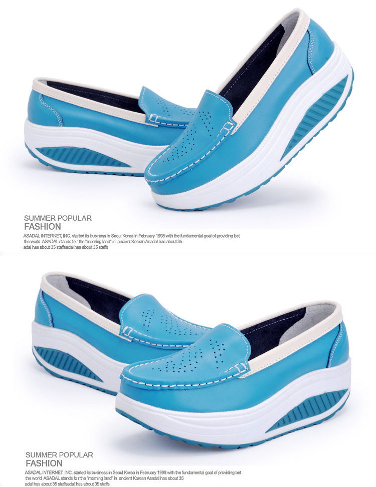 New Womens Shake Shoes Lady Genuine Leather shoes (26)