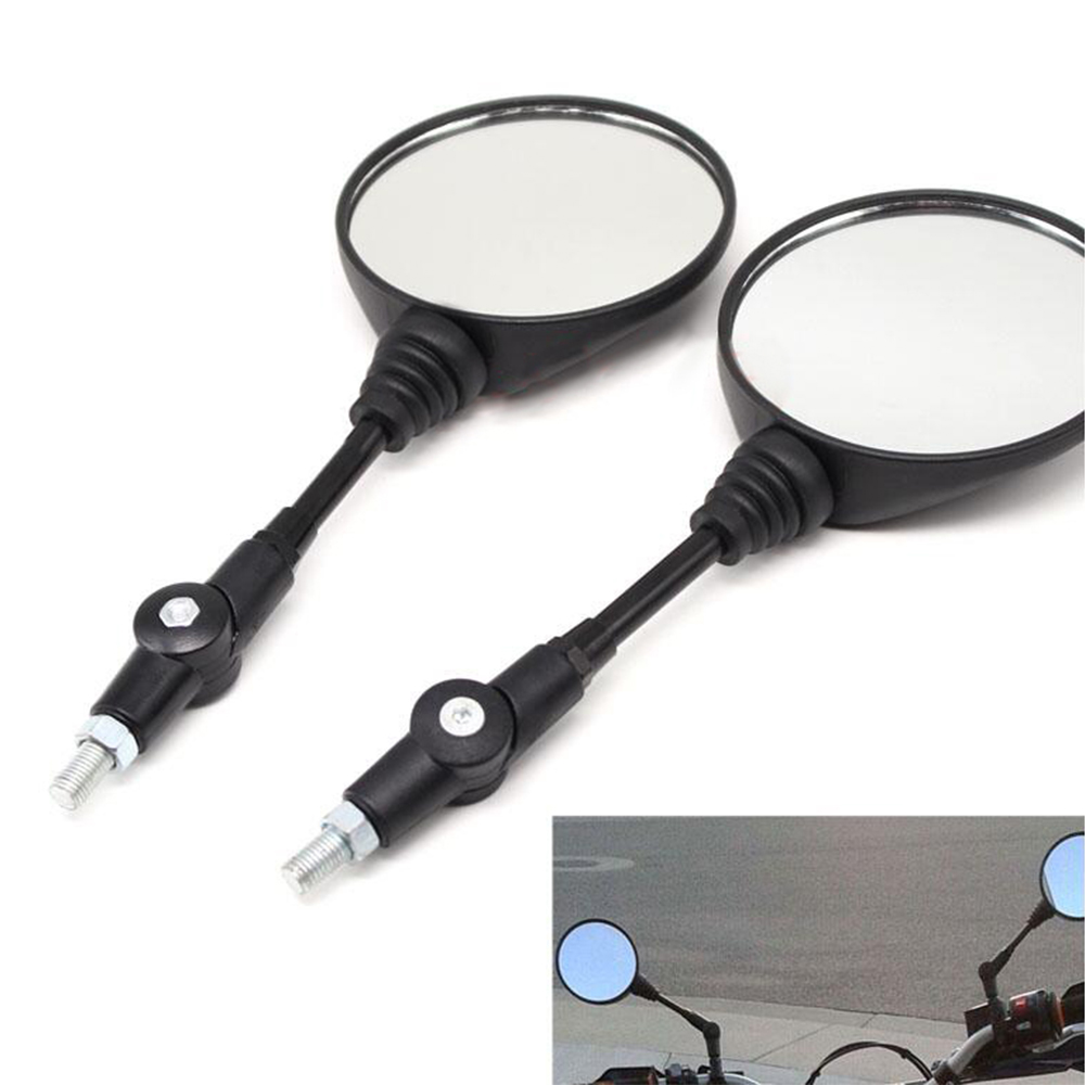 MOTOR Universal 10mm Round Bicycle Motorcycle Motorbike Moped Scooters Racer Rearview Back Side View Mirror for KTM BMW KAWASAKI promax driven wheel block for gy6 150cc scooters atvs go karts moped quads 4 wheeler dune buggys