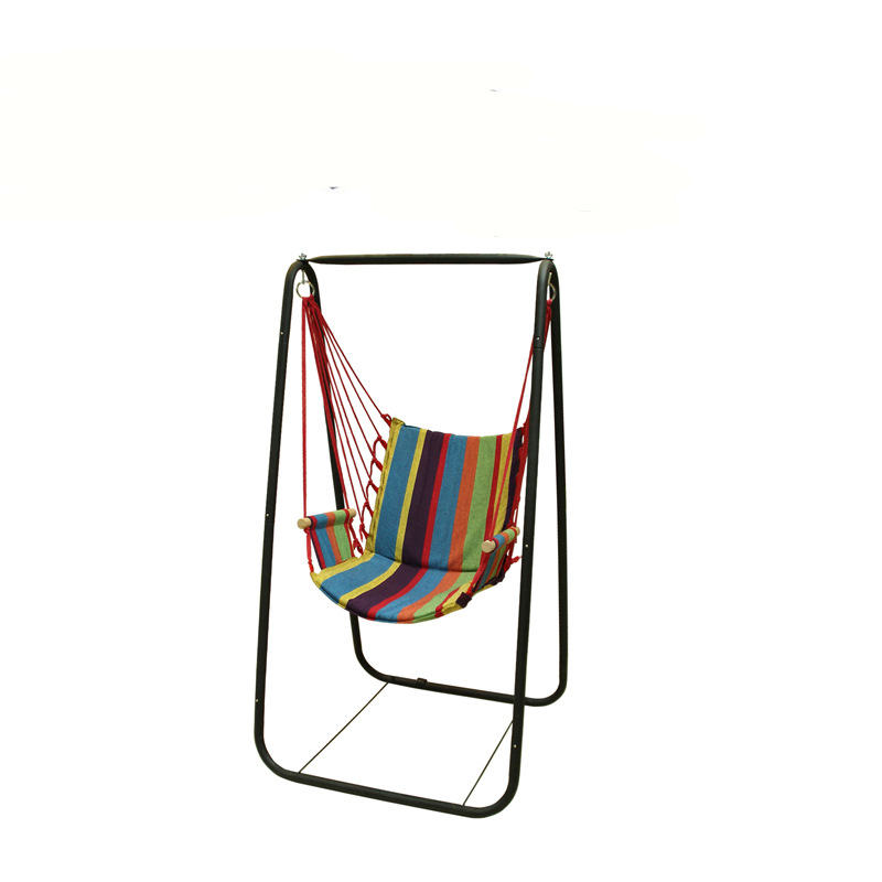 Image 2 - Boutique Beach Hammocks Garden Camping Travel Swing Outdoor Furniture Hanging Chair for Xmas Gift Cotton with Sponge-in Hammocks from Furniture