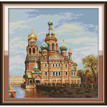 Joy Sunday Castle 8  Chinese cross stitch kits Ecological cotton clear stamped printed 14CT 11CT DIY wedding decoration for home