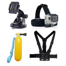go pro mount Accessories set Chest Head Strap Suction Cup Float For xiaomi yi GoPro funda Hero 4 2 3 3+ 5 sjcam sj5000 sj4000(China)