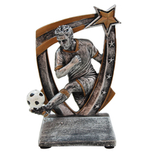 Sports Football Players Statue Figurines Resin Crafts Office Decorative Sculpture Classic Model Home Decorations Toy
