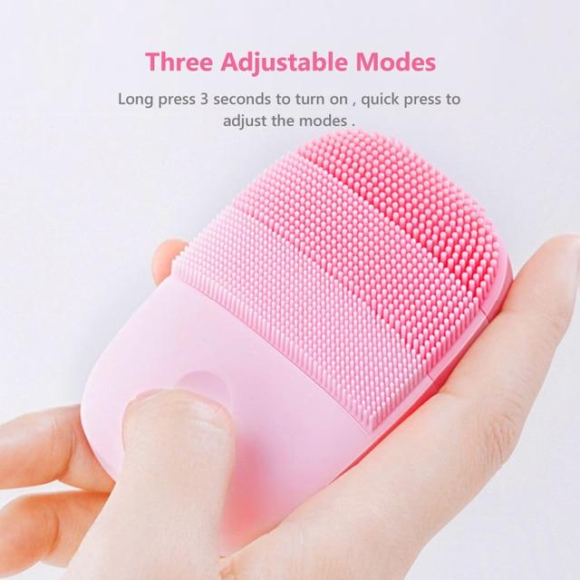 InFace-brosse de Massage électrique, nettoyage du visage en profondeur, nettoyant sonique, en Silicone étanche IPX7, pour les amoureux