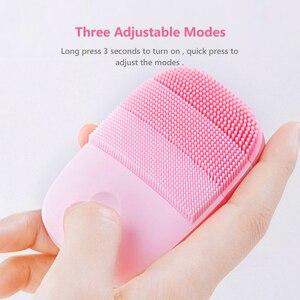 Image 4 - InFace cepillo eléctrico de silicona para limpieza Facial, cepillo de masaje de limpieza Facial profunda, Sónico, IPX7, resistente al agua