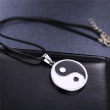 Naruto Yin Yang Leather Chain Pendant