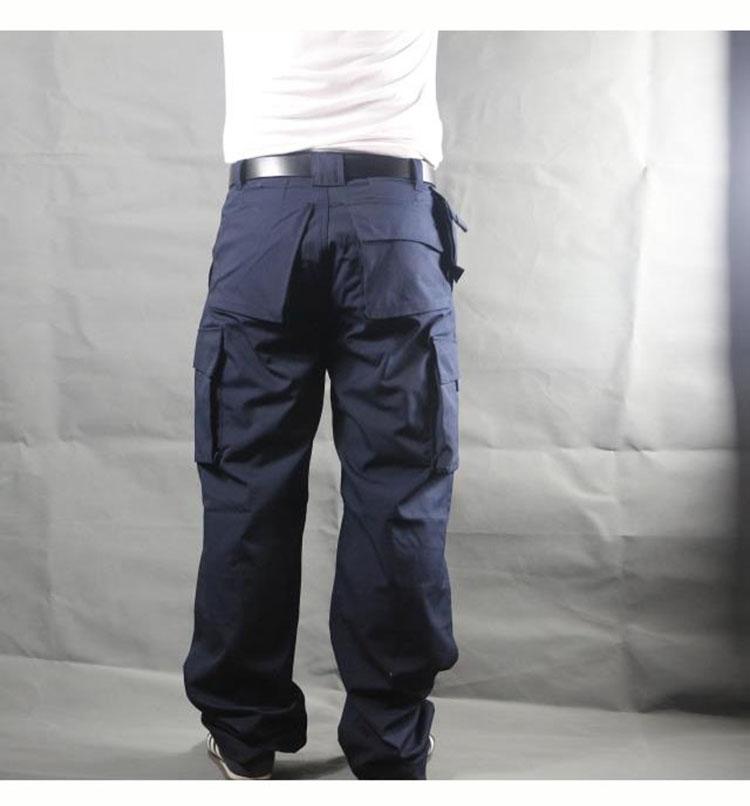 Working pants men multi pockets work cargo pants large size loose style men\'s labor trousers wear-resistance welding repairman (16)