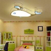 СВЕТОДИОДНЫЙ детская комната спальня потолочный светильник Теплый личности минималистский с изображением Кита детская спальня ceilling Свет