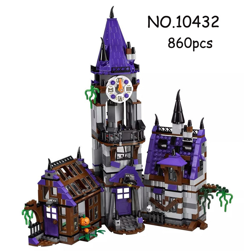 IN STOCK 10432 860pcs Scooby Doo Mysterious Ghost House Building Block Toys Compatible 75904 Blocks For Children gift 10432 scooby doo mysterious ghost house mode building blocks educational toys 75904 for children christmas gift legoingse toys