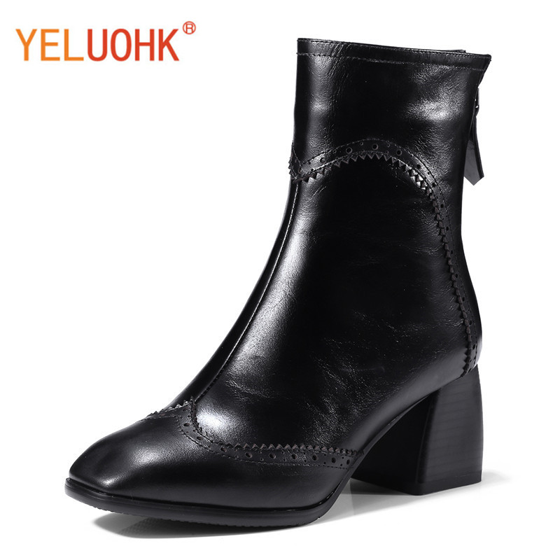 Top Quality Genuine Leather Women Winter Boots Plush Warm Ankle Boots For Women Winter Boots