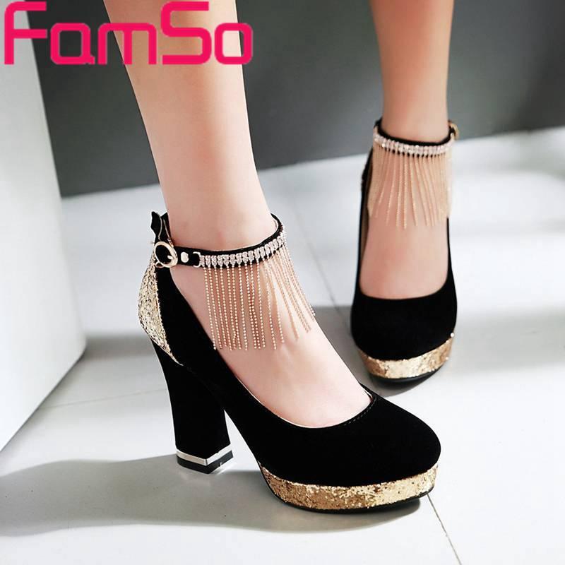 ФОТО Big Size34-43 2016 New Women Pumps Black red Gold Glitter Wedding Shoes  Rhinestone Pumps Autumn Women's High Heels Pumps PS2020