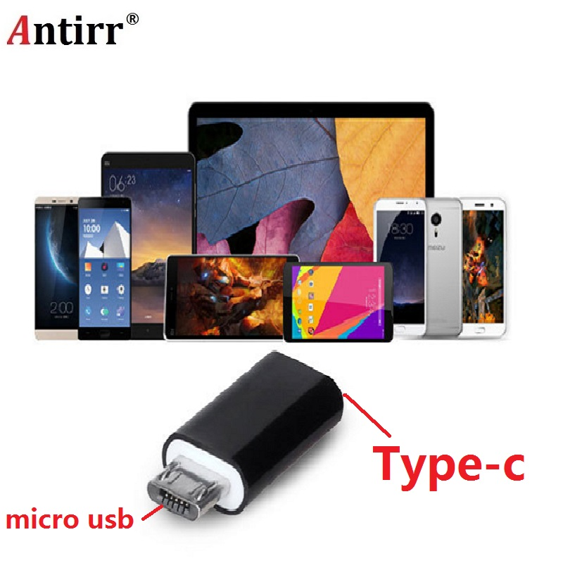 type-C female to micro-USB male adapter cable USB-C to micro USB Converter data power Cable convertor for Huawei Type C lidu usb male to micro usb male extension charging cable for samsung black 100 cm