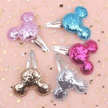 2019 NEW Fashion fine Rabbit head (size 50mm+40mm) baby clip Children hair accessories for kids Hairpins 1pcs girls barrettes(China)