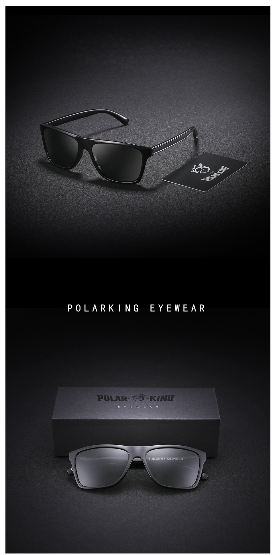 62b17751e8 POLARKING Brand Retro Plastic Sun Glasses For Men Travel Oculos de ...