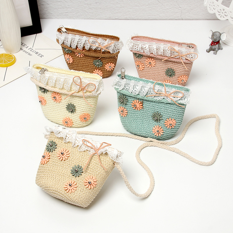 2019 Summer Baby Coin Purse Handbag Cute Girls Flower Straw Beach Bag Kids Rattan Crossbody Bags Toddler Small Wallet Bag2019 Summer Baby Coin Purse Handbag Cute Girls Flower Straw Beach Bag Kids Rattan Crossbody Bags Toddler Small Wallet Bag