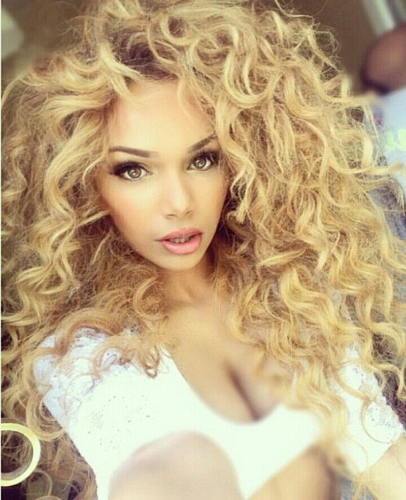 Blonde brazilian deep curly virgin hair 7a 100 human hair weave blonde brazilian deep curly virgin hair 7a 100 human hair weave tight kinky curly hair brazilian deep wave 3pcs jerry curl 613 in hair weaves from hair pmusecretfo Gallery