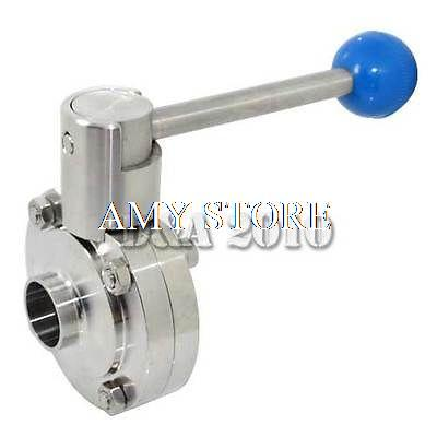 1-3/4 45mm OD Sanitary Weld Type Full Port Butterfly Valve SS304 1000PSI WOG 1 25 sanitary stainless steel ss304 y type filter strainer f beer dairy pharmaceutical beverag chemical industry