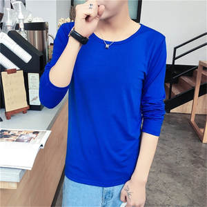 d9353b9bb Solid Color Long Sleeve t shirt No Hat Men Hip Hop T-shirts