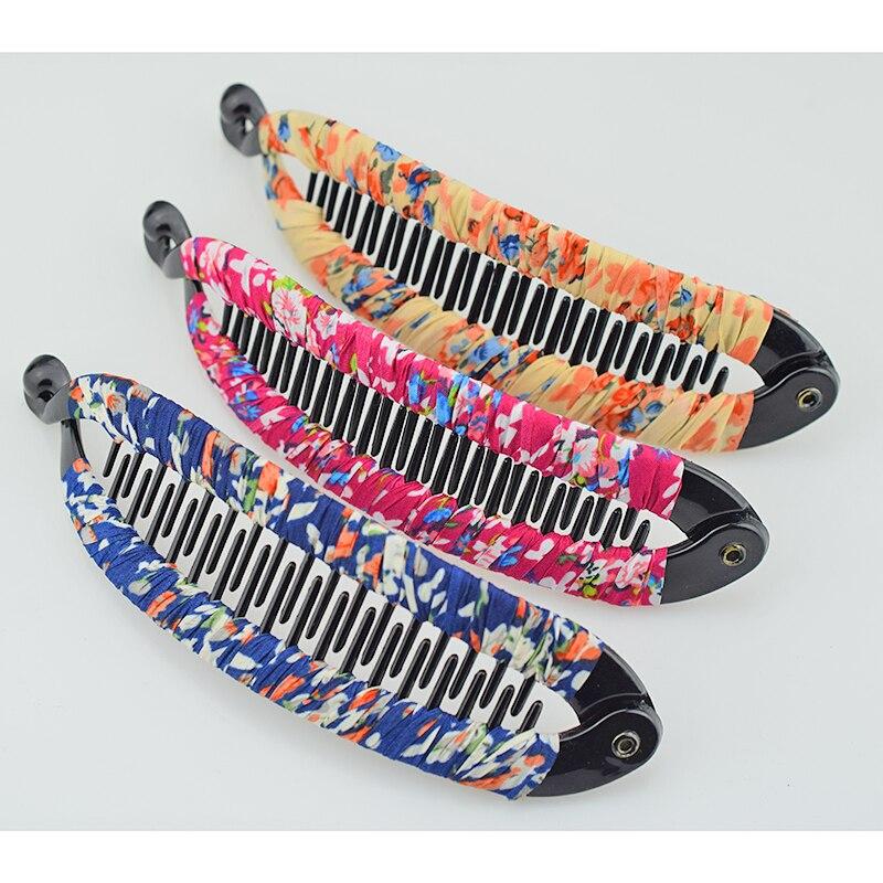 Fish Shape Long Barrettes Hair Clips for Women Chiffon Cloth Hair Accessories Korean Fashion Hairclip Plastic Claws Clip Gifts in Women 39 s Hair Accessories from Apparel Accessories