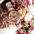 Классические часы на удачу для женщин  романтические цветочные наручные часы  полностью стальные кристаллы  вращающиеся водонепроницаемые...