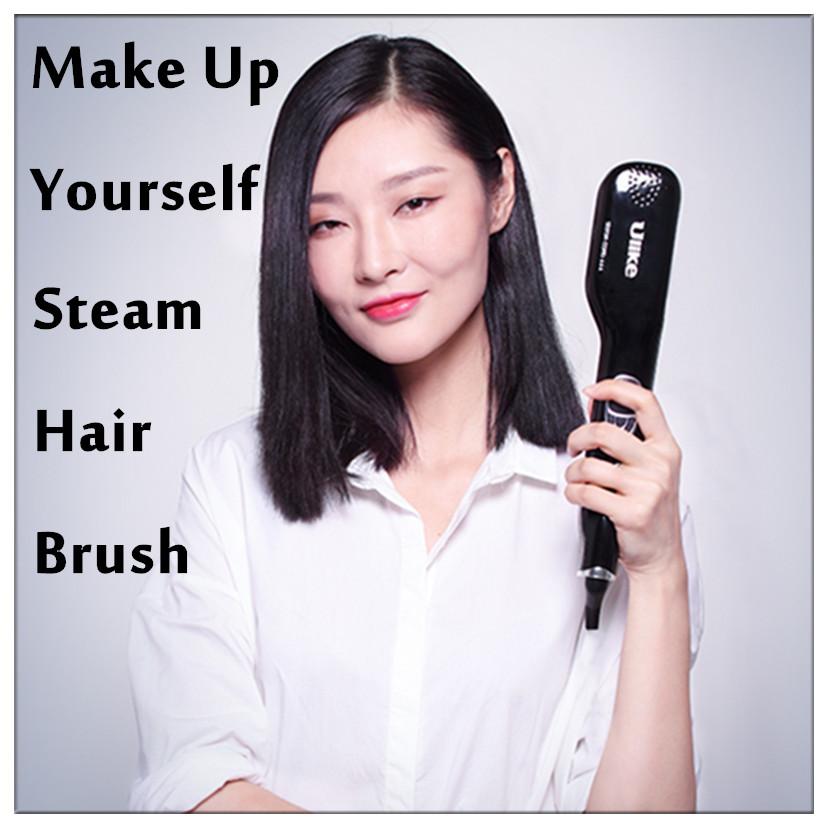 LCD Display Steampod Magical Steam Comb Straightener Automatic Straight Hair Brush With Steam Electric Styling Tool