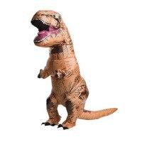 Yetişkin Tulum için Kadın Erkek T-REX Şişme Kostüm Halloween Cosplay Karnaval Noel Kostümleri Fan Işletilen Dinozor Hayvan