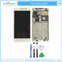 100 Test LCD Display With Touch Screen Digitizer Assembly With Frame For Lenovo S850 LCD Screen