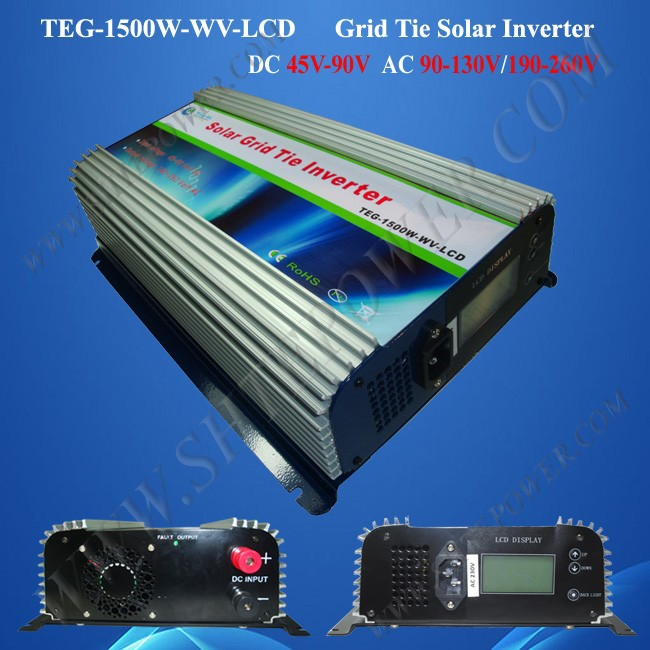 grid tie inverters 1500w mppt inverter   dc 45-90v to ac 190-260v output, mppt solar inverter 1500w new grid tie mppt solar power inverter 1000w 1000gtil2 lcd converter dc input to ac output dc 22 45v or 45 90v